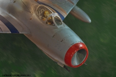 North Korean Mig-15 Photo manipulation - Mig over North Korea