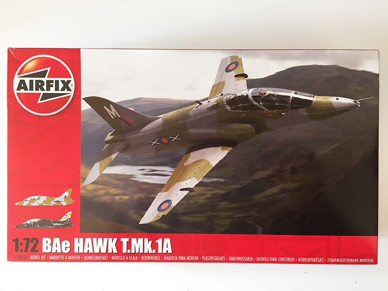 Airfix 1:72 BAe Hawk  T.Mk.1A box art (Jets of the Cold  War)