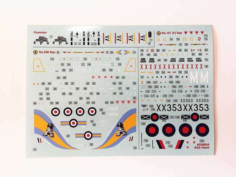 Airfix 1:72 BAe Hawk  T.Mk.1A decal options   (Jets of the Cold  War)