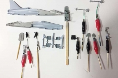 Airfix 1:72 BAe Hawk  T.Mk.1A small parts painted  (Jets of the Cold  War)