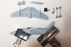Airfix 1:72 BAe Hawk  T.Mk.1A waiting for things to dry  (Jets of the Cold  War)