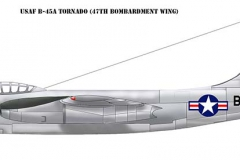 USAF B-45A Tornado of the 47th Bombardment Wing