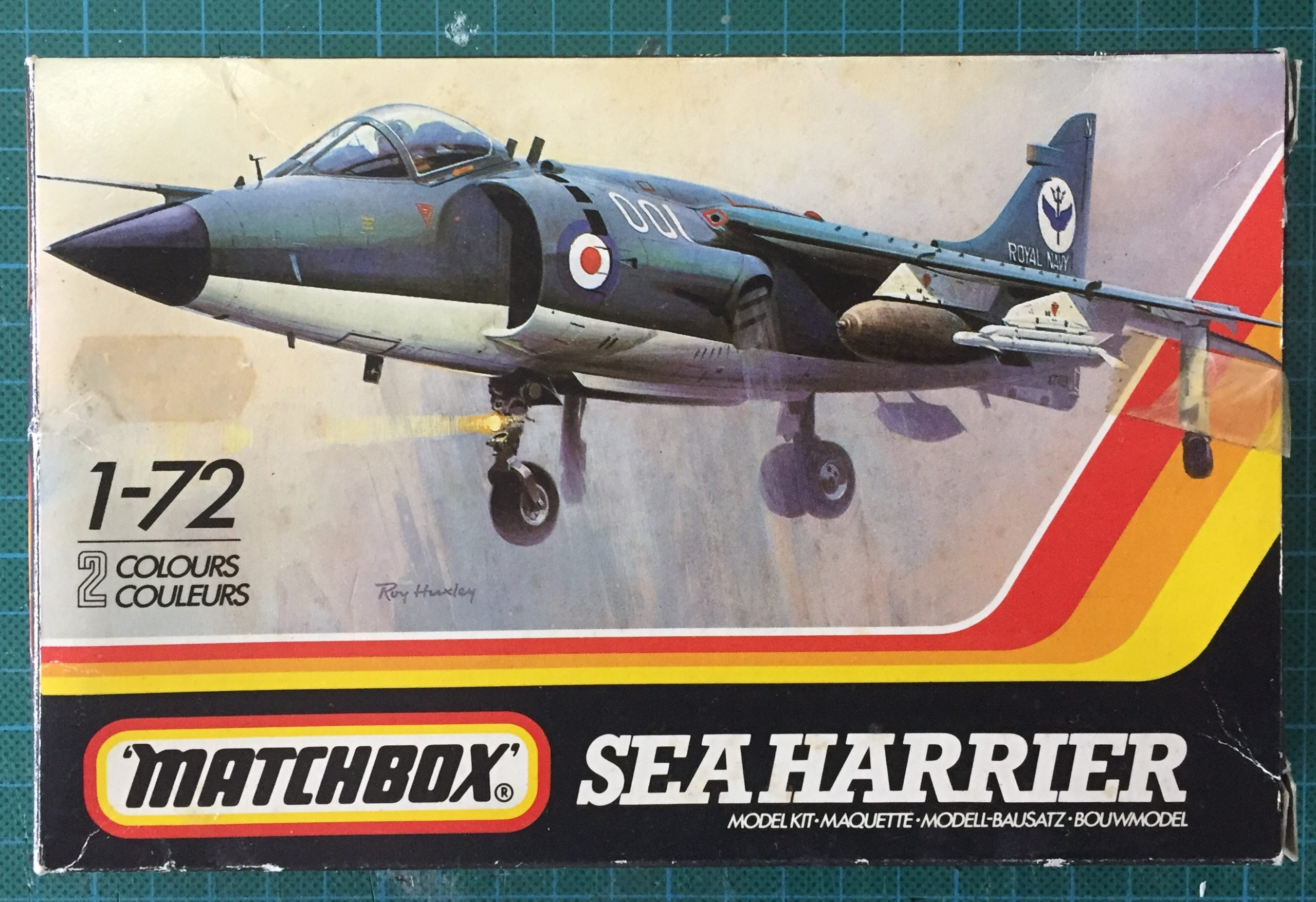 Matchbox 1/72 Sea Harrier box art.