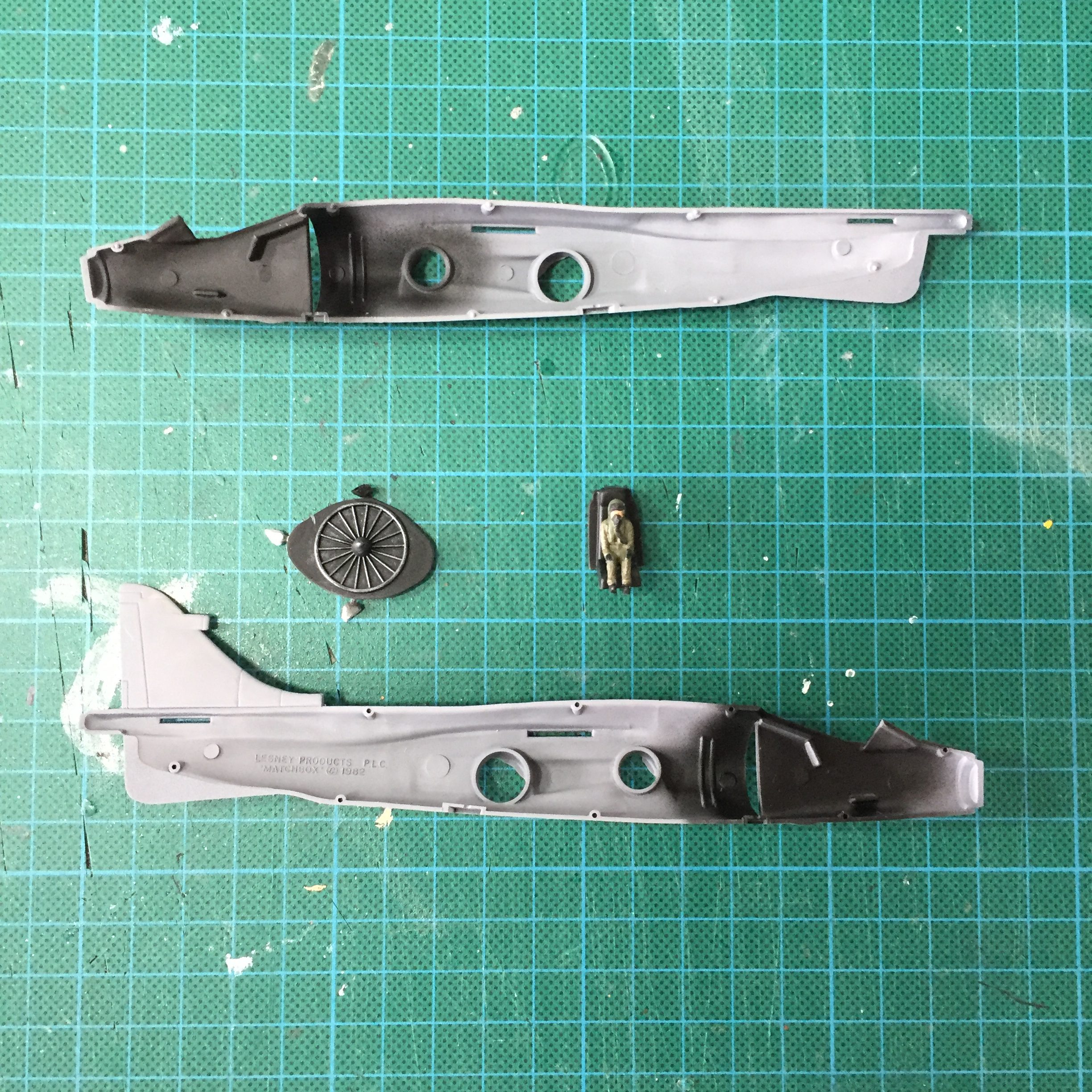 Work in progress on the Matchbox 1/72 Sea Harrier.