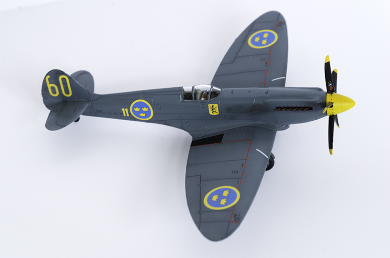The completed Airfix 1/72 Spitfire PR.XIX in Swedish Air Force markings.
