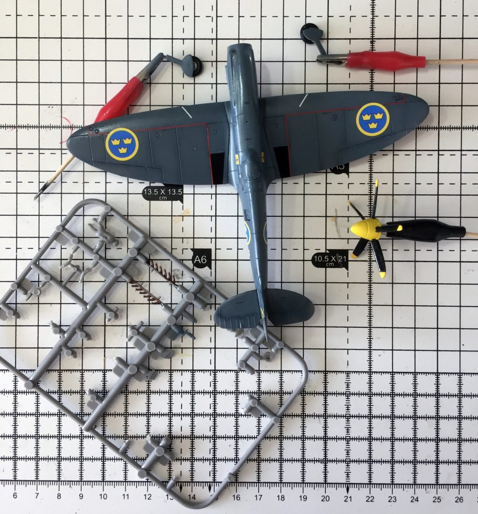 Work in progress on Airfix 1/72 Spitfire PR.XIX , final bits and bobs.