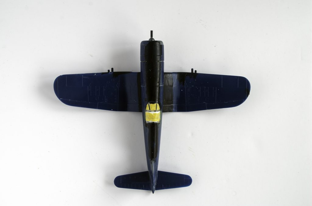 Getting ready to prime the Italeri 1/72 F4U-7 Corsair.