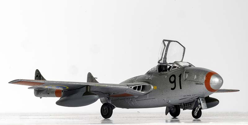 The completed Airfix 1/72 de Havilland Vampire T11