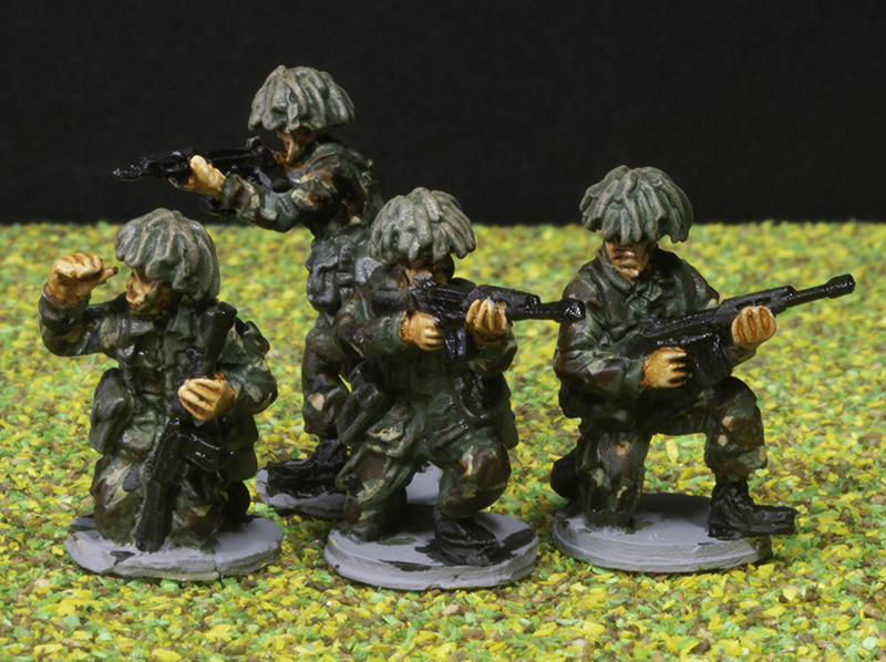BAOR British Infantry 1:72 from Elhiem Miniatures.
