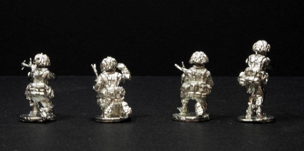Elhiem 1:72 (20mm) BAOR British infantry figures, rear view.