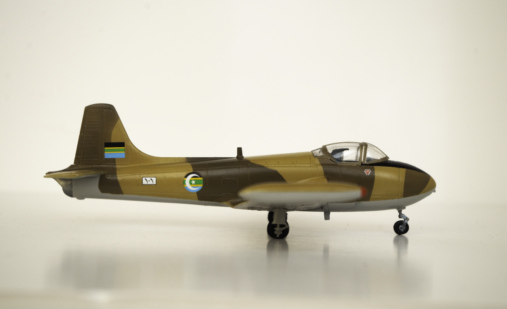The Airfix 1:72 Jet Provost T.4 finished as a South Arabian Air Force T.52