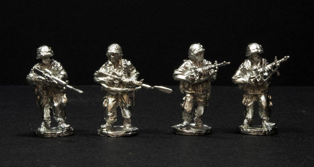Elhiem 1:72 (20mm) US Army in Vietnam figures, front view.