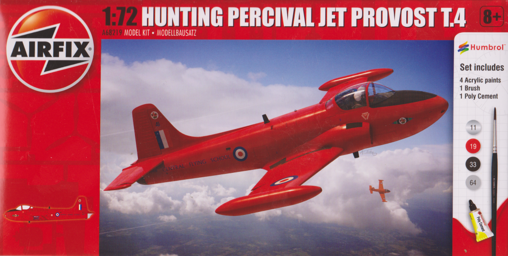 Airfix 1:72 Jet Provost box art.