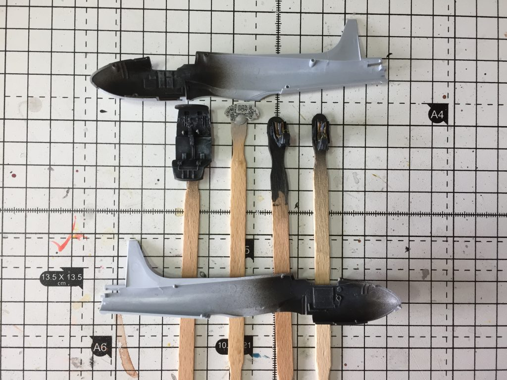 Stage 1 of building the Airfix 1:72 Jet Provost T.4