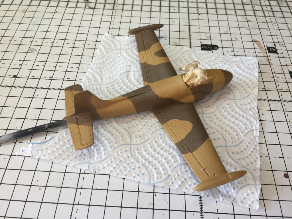 Hataka Dark Earth added as part of the camouflage scheme for the Airfix 1:72 Jet Provost T.4