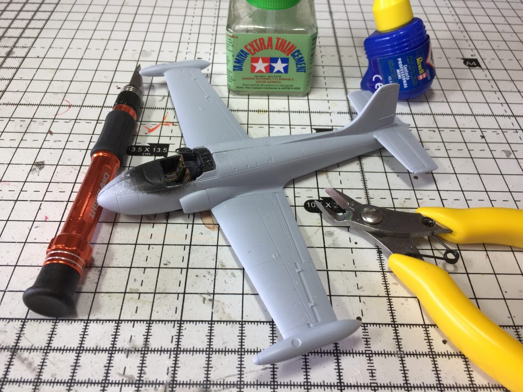 Construction of the Airfix 1:72 Jet provost T.4