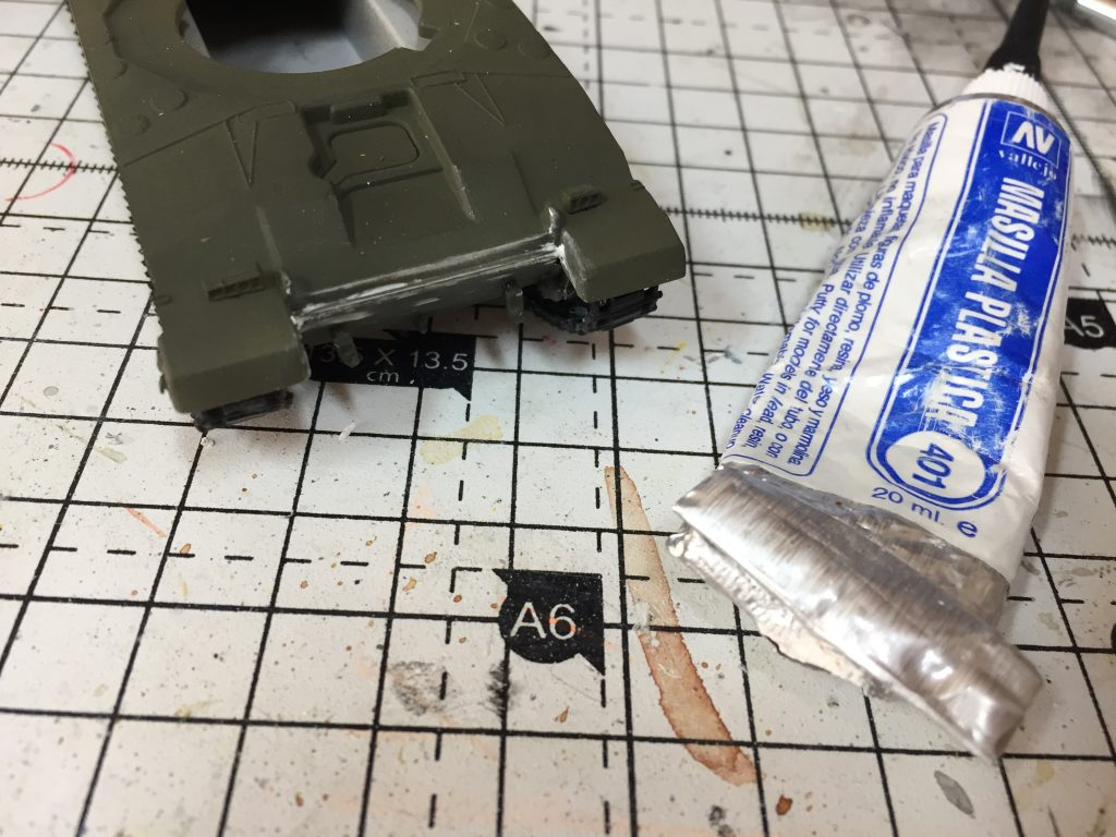 A bit of filler required on the front of the model,