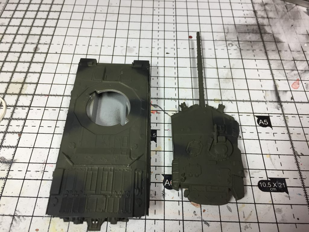 Black part of the camouflage scheme added.