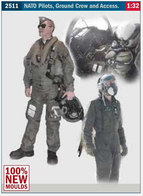 Image of 1:32 Italeri aircrew figures new for 2021.