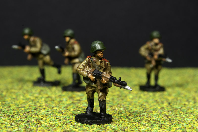Finished 1:72 Soviet Motor Rifle infantry.