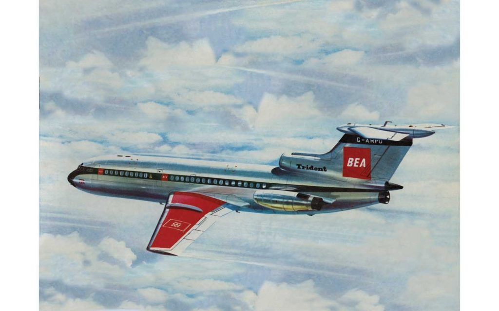 New from Airfix 2021 Vintage Classic HS 121 Trident in 1:144 scale