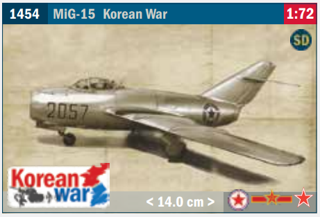 Image of 1:72 Italeri MiG-15 new for 2021.