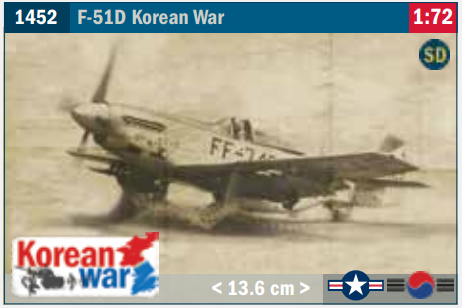 Image of 1:72 Italeri F-51D Mustang new for 2021.