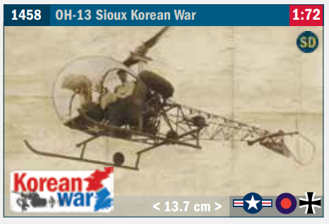 Image of 1:72 Italeri OH-13 Sioux new for 2021.