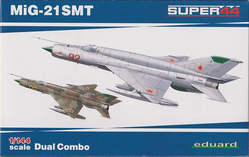Eduard 1:144 MiG-21SMT box art.
