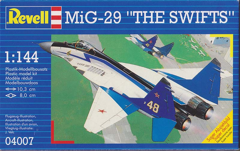 "Revell 1:144 MiG-29 ""The Swifts"" box art"