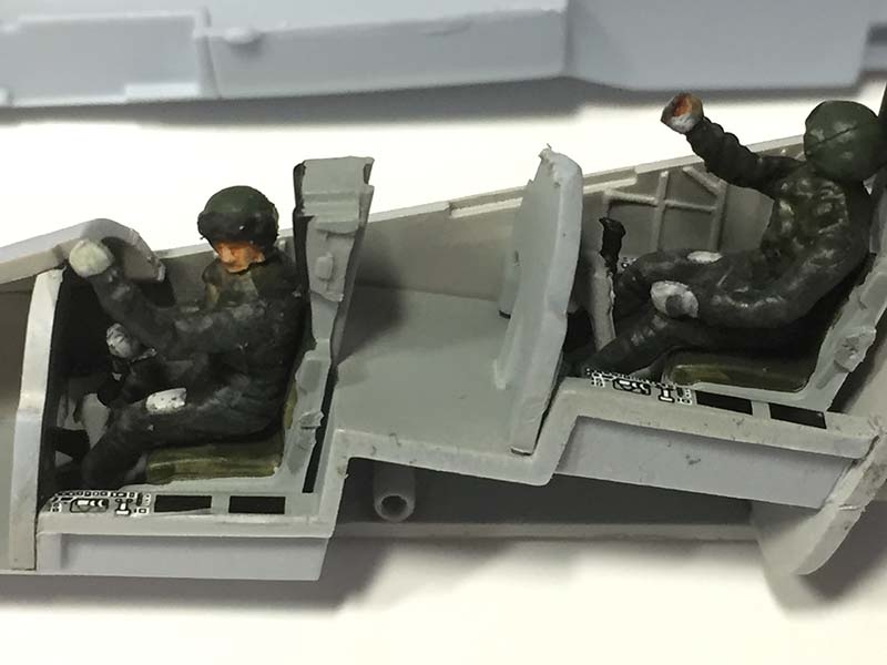 Pilot figures in the Airfix 1:72 BAe Hawk T.Mk.1A by Jets of the Cold War.