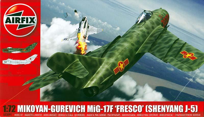Airfix Mikoyan-Gurevich MiG17F 'Fresco' [Shenyang J-5] -Jets of the Cold War