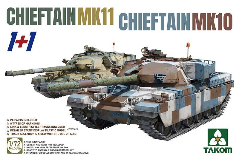Takom Chieftain Mk11 + Chieftain Mk10 (1:72)